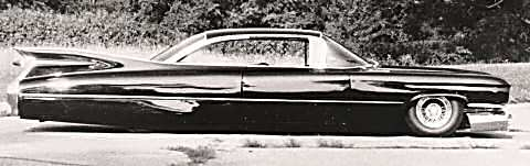 sideview of the Sonny and Cher Cadillac