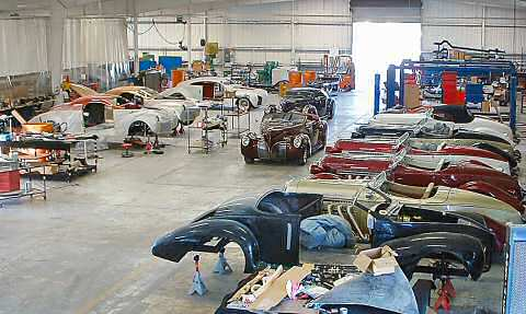 Z Series Zephyrs and Boattail Auburns in Production at Speedster Motorcars Shop